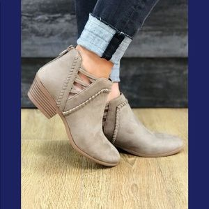 Shoes - South side strut cut out Bootie- warm taupe